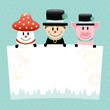 Fly Agaric, Chimney Sweep & Pig Dots Retro