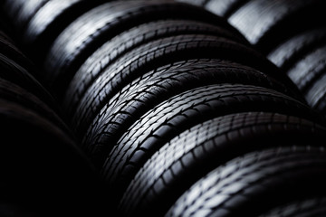 Tire stack background