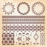 set of beautiful vintage elements of design