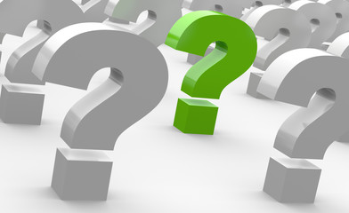 Spiel der Fragen - Grün