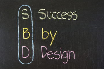 SBD acronym Success by Design