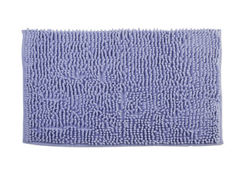 cleaning bathroom door mat on white background