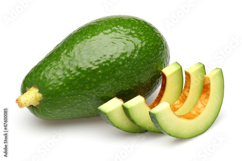 Sliced Avocado and Avocado