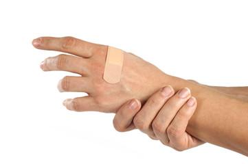 Mani con cerotto