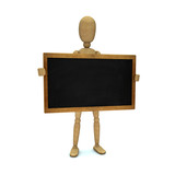 Dummy with blackboard
