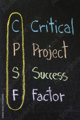 CPSF acronym Critical Project Success Factor