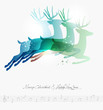 Merry Christmas contemporary jumping deers