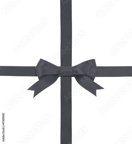 satin ribbon with a bow