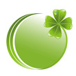 Button with clover leaf icon