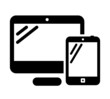 Personal computer and tablet icon