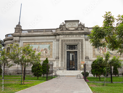 Italian Art Museum building in Lima Peru