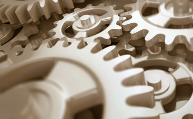 Uhrwerk Detail Sepia