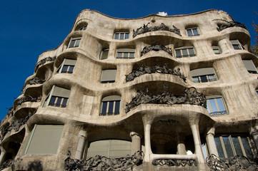 Casa Milo by Antoni Gaudi, Barcelona, Spain