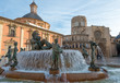 Fountain in the city of Valencia
