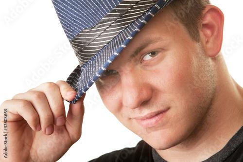 Grinning Man in Fedora Hat