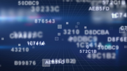 hexadecimal data loopable background