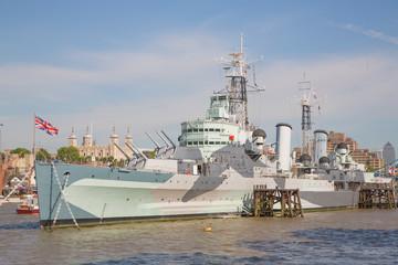 The HMS Belfast.