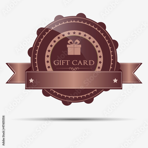 Retro gift badge and label