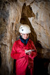 Caver logging survey data during cave mapping