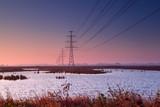 high-voltage electricity line