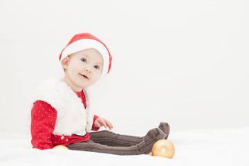 Sitzendes Weihnachtsbaby