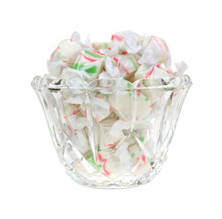 Christmas Taffy in Dish