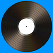 Vinyl Record. Your text on the white label.