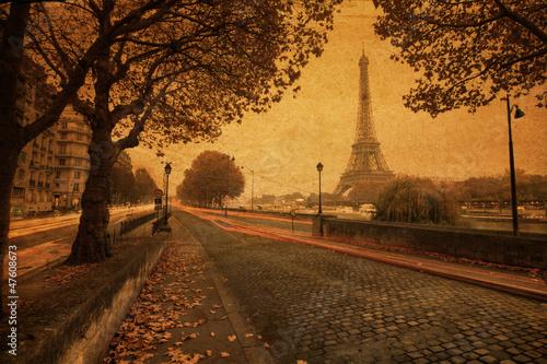 nostalgische Stadtansicht von Paris