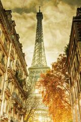 nostalgisches Bild vom Eiffelturm