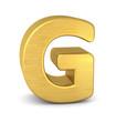 buchstabe letter G gold vertikal
