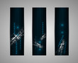 abstract dark futuristic fade technology banner business backgro
