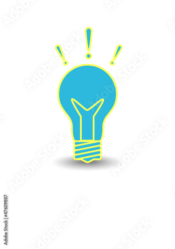 Vector icon light bulb