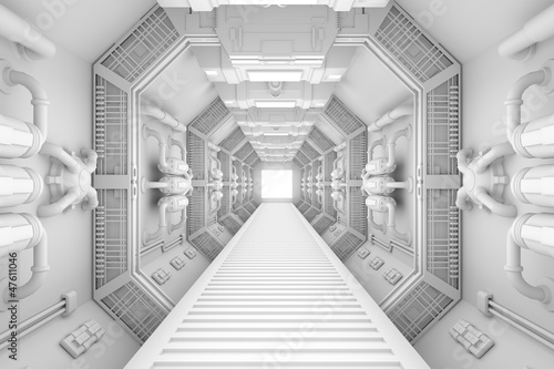 Spaceship interior center view - 47611046
