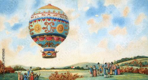 Naklejka hot air balloon illustration
