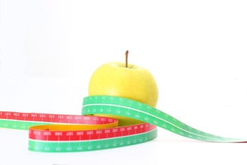 apple and tape, healthy food