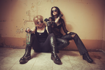 Two gothic babes