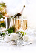 New Year Celebration. Two Champagne Glasses