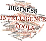 Word cloud for Business intelligence tools