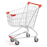 3d Shopping cart isolated