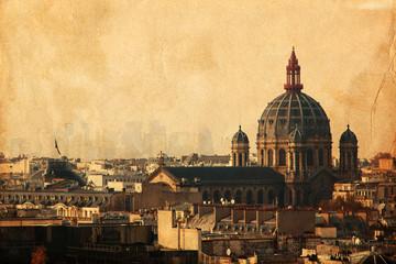 nostalgisches Stadtpanorama von Paris