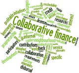 Word cloud for Collaborative finance poster