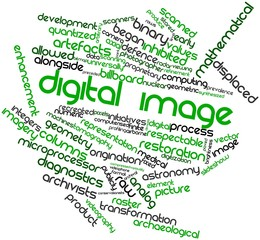 Word cloud for Digital image