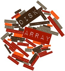 Word cloud for Disk array