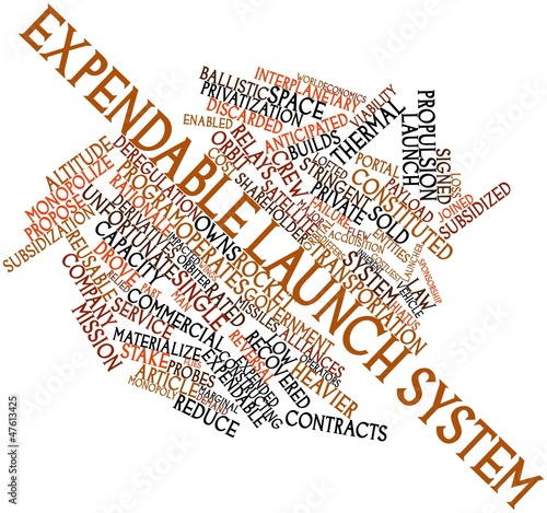 Word cloud for Expendable launch system