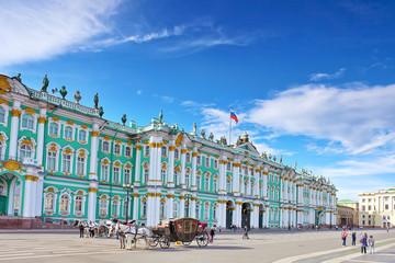 View Winter Palace  in  Saint Petersburg.