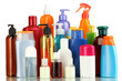 A lot of different cosmetic products for personal care isolated