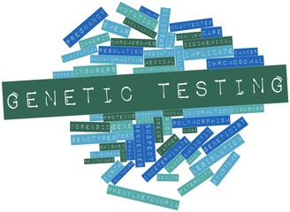 Word cloud for Genetic testing