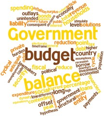 Word cloud for Government budget balance