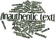 Word cloud for Inauthentic text