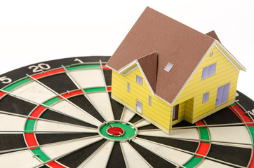 House on dartboard